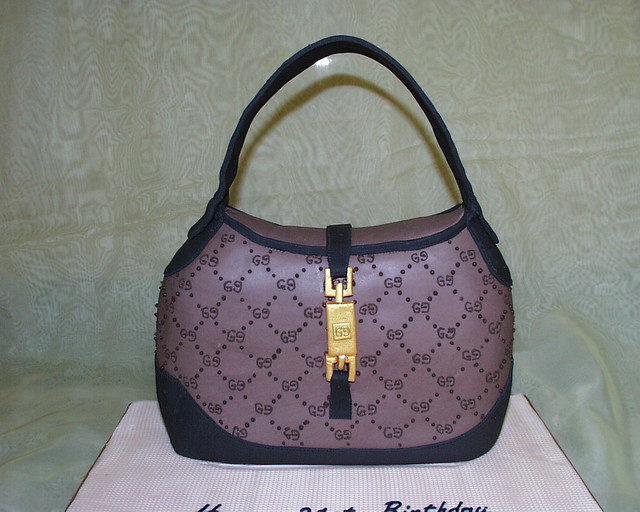 Gucci handbag birthday cake