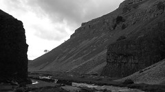 Looking out of Gordale Scar