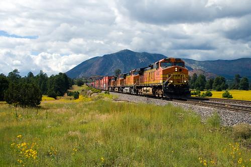 railroad arizona southwest west flower clouds train az flagstaff valley sanfranciscopeaks bnsf cotcmostfavorited eldenmountain