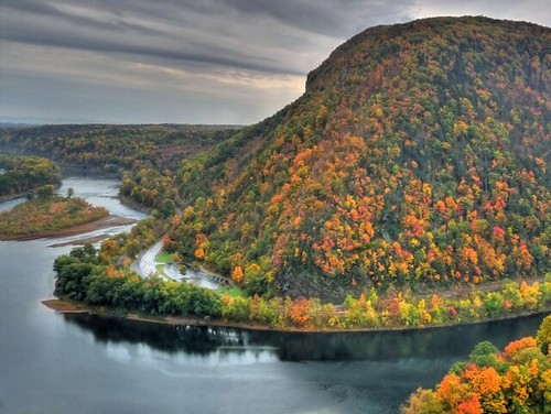 The Pennsylvania side of the Delaware Water Gap - autumn