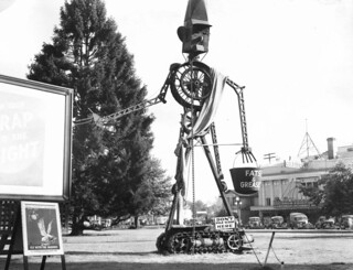 Scrappo, mechanical scrap metal creation made by the Marion County salvage committee, Salem, Oregon, 1942 | by OSU Special Collections & Archives : Commons