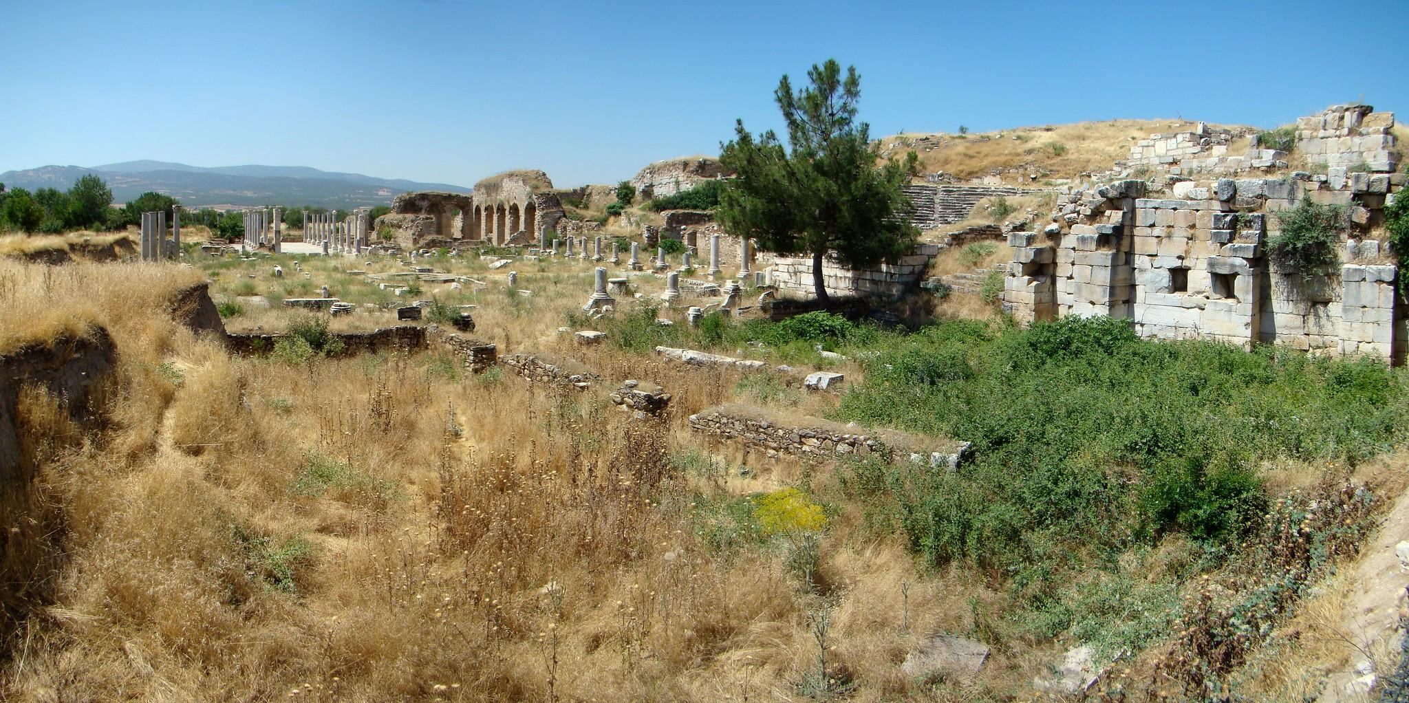 Tetrastoon y Teatro Romano de Afrodisias Turquía