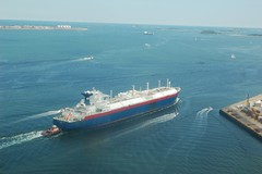 LNG Tanker Suez Matthew Heading Out to Sea | by Rob Bellinger