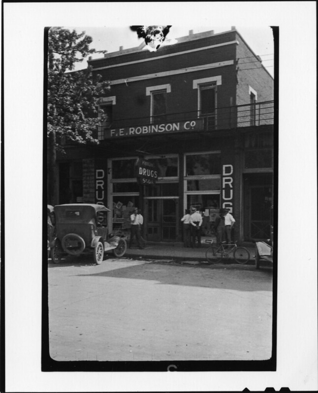 Tennessee v. John T. Scopes Trial: F.E. Robinson's Drugstore, Main Street, Dayton, Tennessee.
