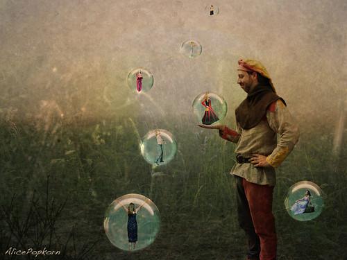dancing thought bubbles   by Cornelia Kopp