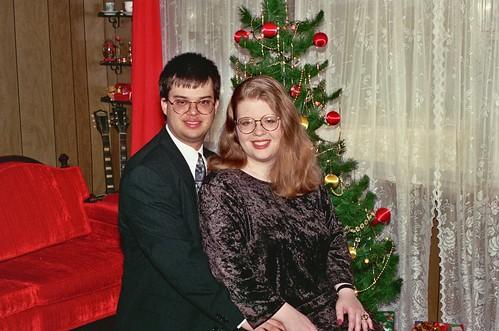 Jeff and Amy, Christmas 1996