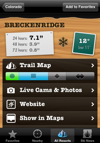 Ski Lodge (for iPhone) - Resort detail view | by David Watanabe