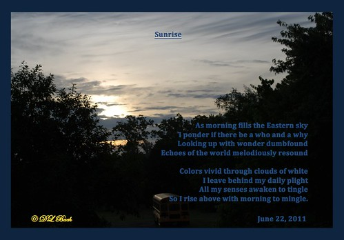 sunrise poetry knoxville easttn dlbach