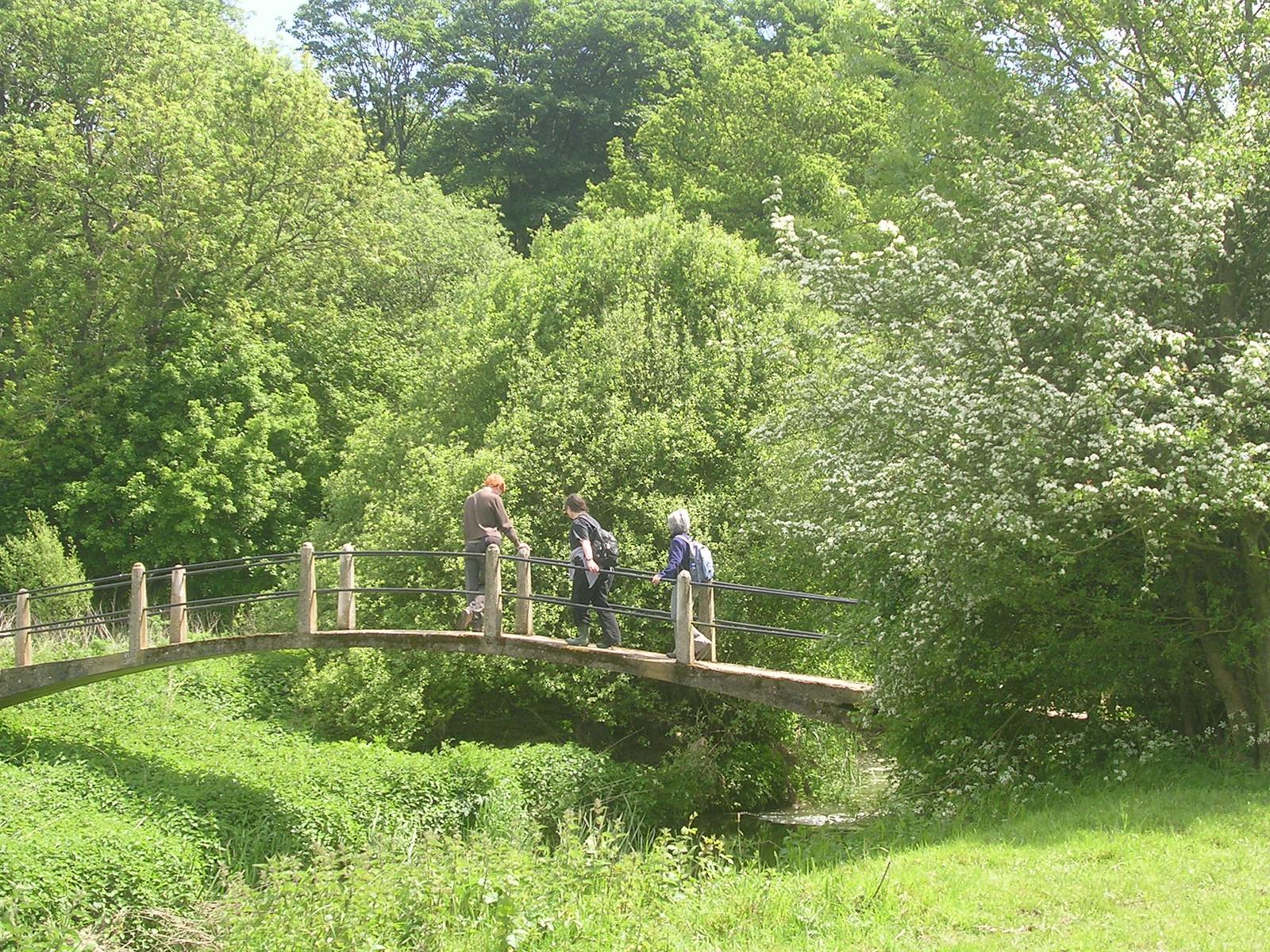 Slightly picturesque bridge Hever to Leigh