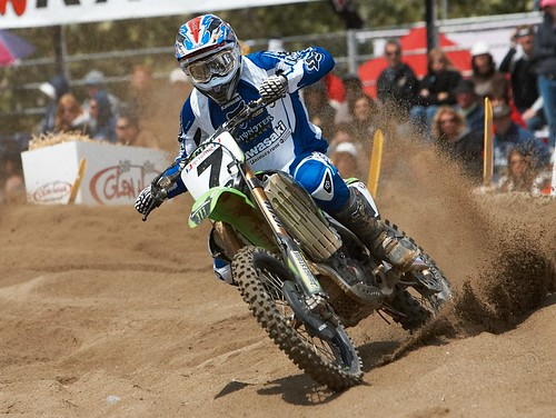 James Stewart blasting through a berm