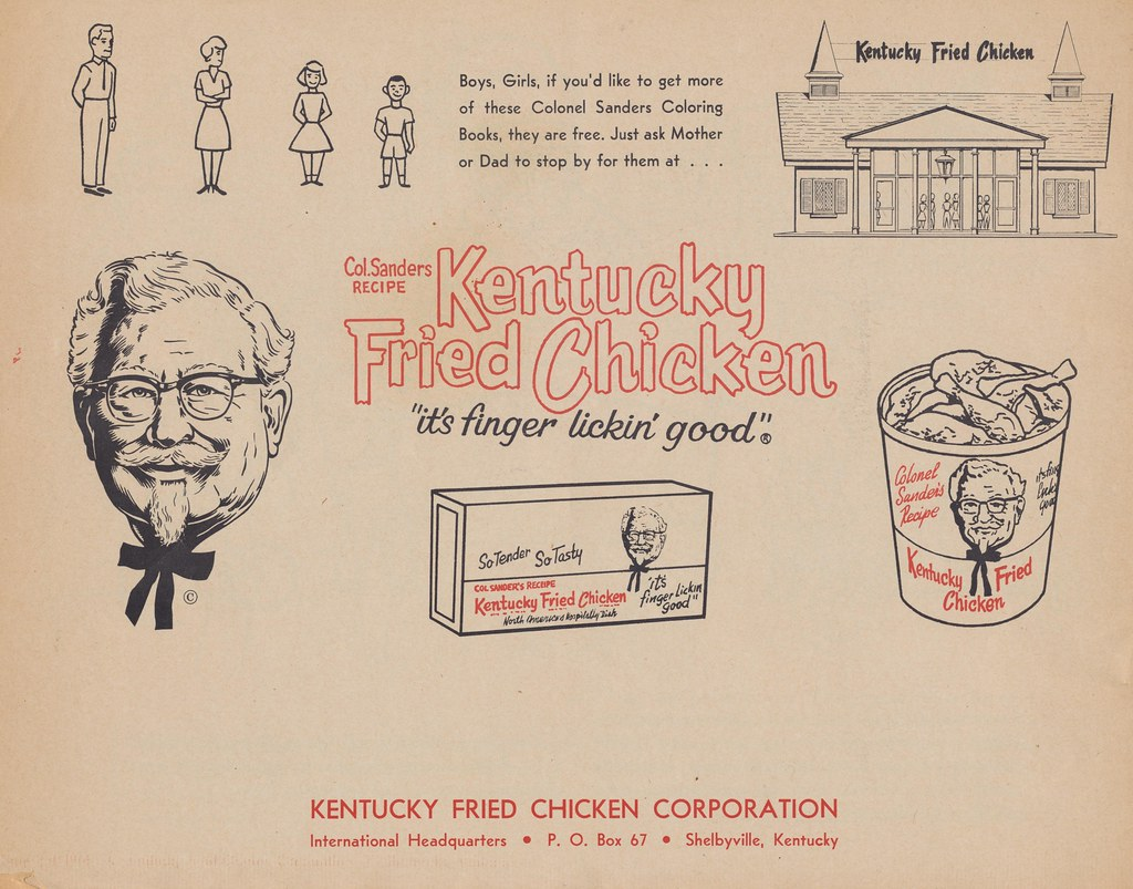 Kentucky Fried Chicken Coloring Book Back | Boys, Girls, if ...