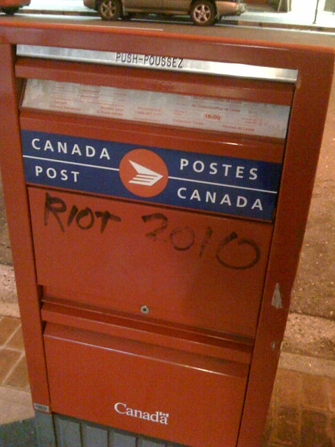 Canada Post Riot 2010