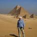 U pyramid v Gíze, foto: Luděk Wellner