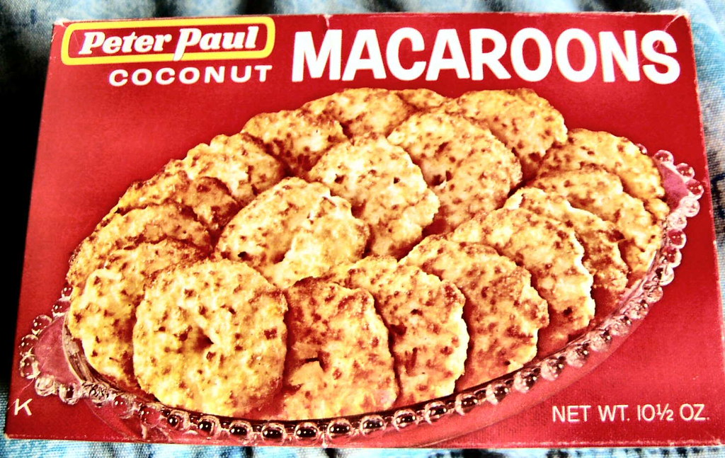 1960s Coconut Macaroons Box This Lady Who Keeps Order At T Flickr