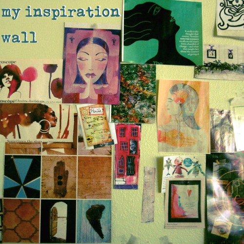 Current incarnation of my inspiration wall | by miscellaneaarts