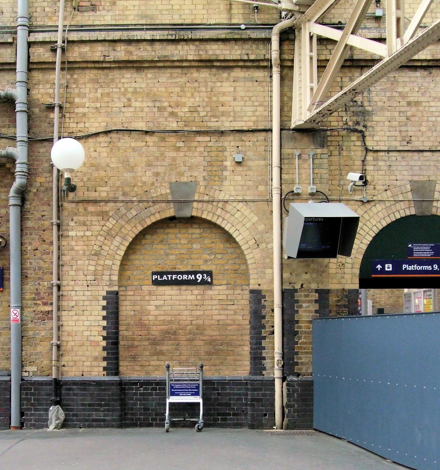 Platform 9¾,  Kings Cross Station, London.