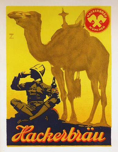 Hackerbräu-Munich Beer (c.1920)