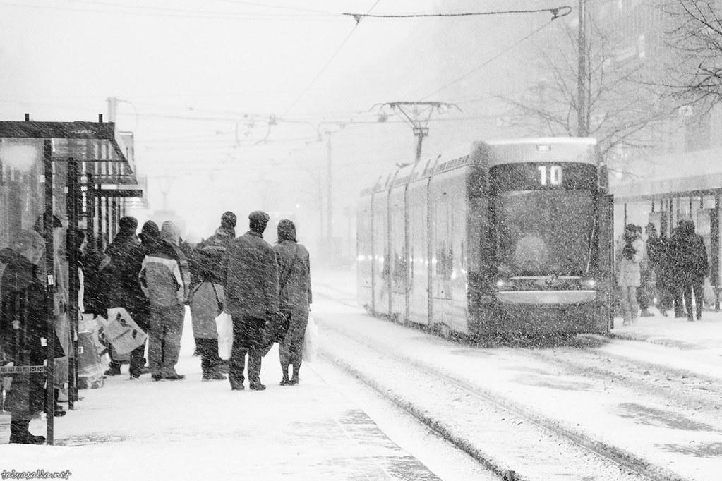 Snowstorm in Helsinki