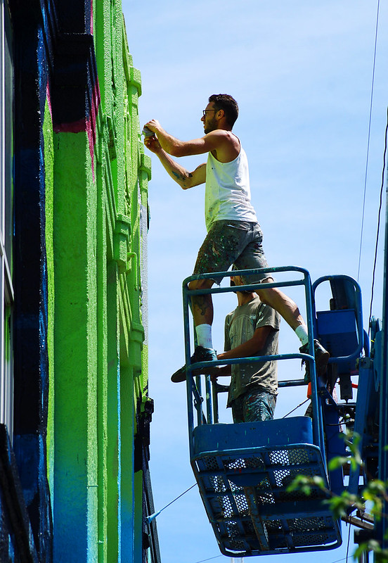 Mural Feats of Daring