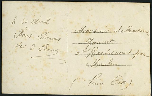 Archiv B021 Muget du bonheur, back, France 1910er