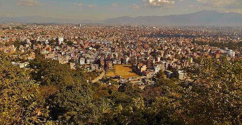 """reisen travel explore voyages urlaub visit roba66 nepal asien südasien asia city stadt capitol kathmandubefore earthquake """"stupa von swayambhunath"""" stupa swayambhunath tempel tempelanlage maincity view blick urban"""