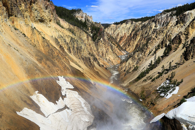 The rainbow in the canyon