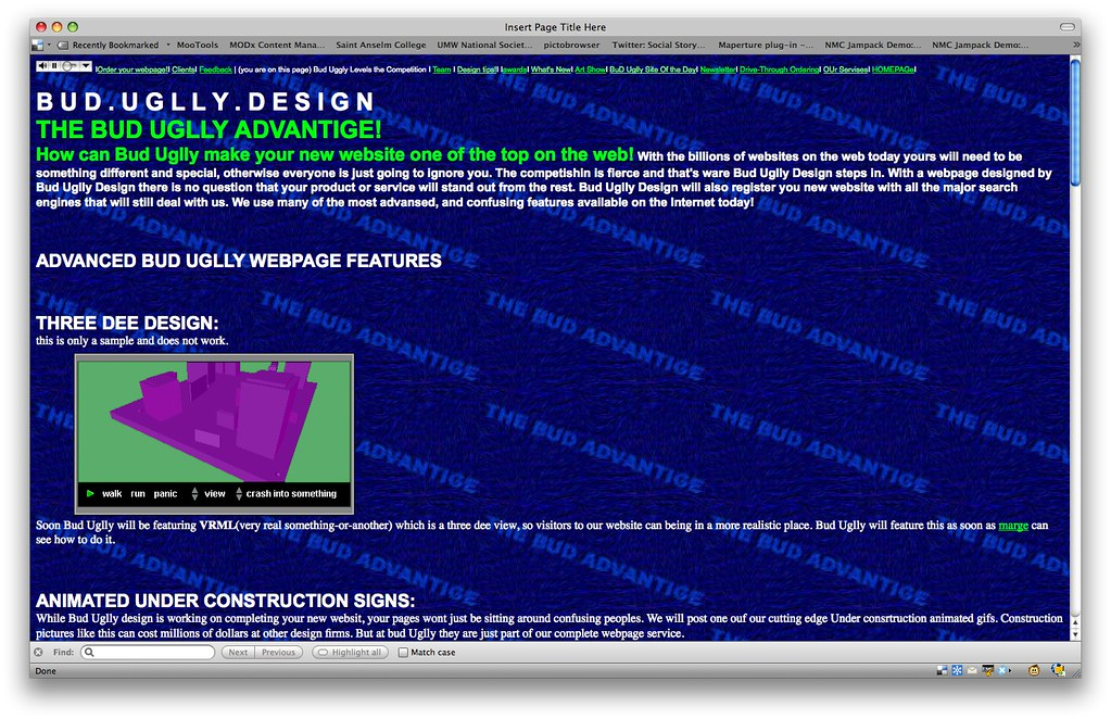 ... Old Skool Web Pages - by cogdogblog