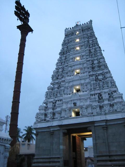 Rajagopuram from inside - Evening view