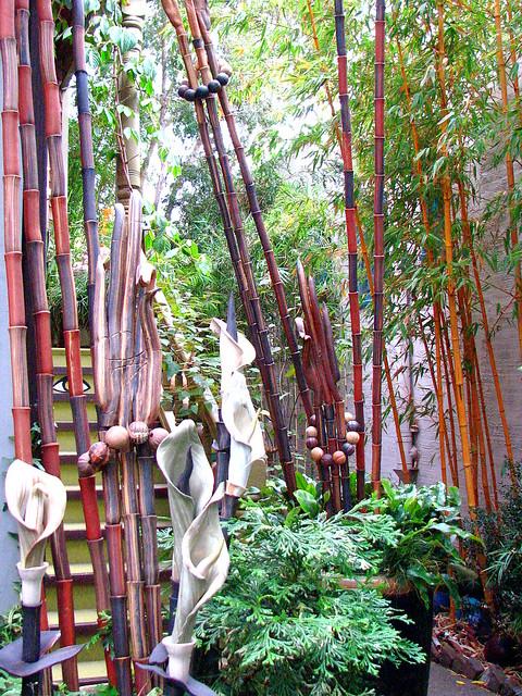 sculptor Marcia Donahue's garden entrance