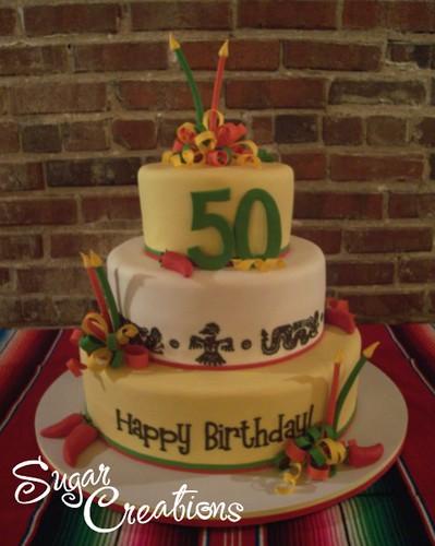 Mexican Theme Birthday Cake