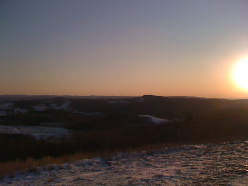 snow sunrise virginia february 2008 fancygap beamersknob