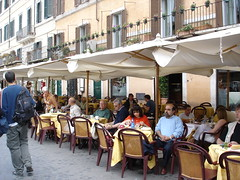 Rome cafe scene | by EuroCheapo
