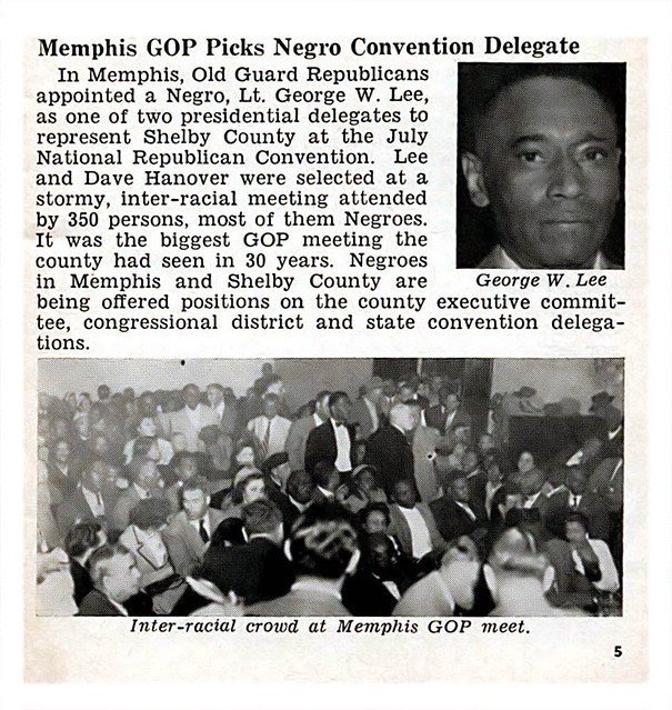 Memphis, Tennessee Republicans Pick Negro Convention Delegate Lt. George W. Lee - Jet Magazine February 14, 1952