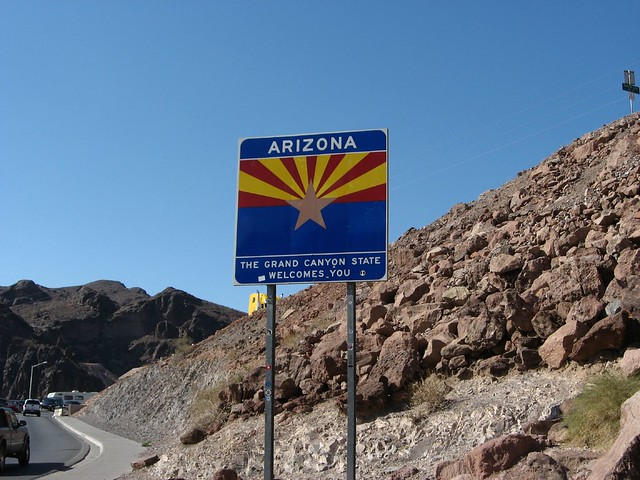 Welcome to Arizona, Old U.S. 93, Near Hoover Dam