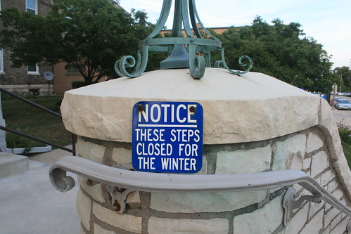 Notice: These Steps Closed For The Winter