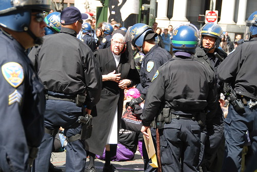 Nun getting arrested at five years of Iraq war protest | by Steve Rhodes