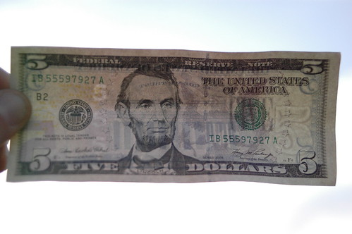I found five dollars!