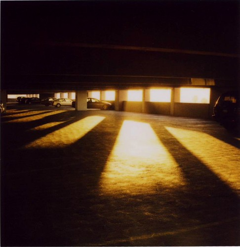 sunset polaroid garage parking slr680 680 roq