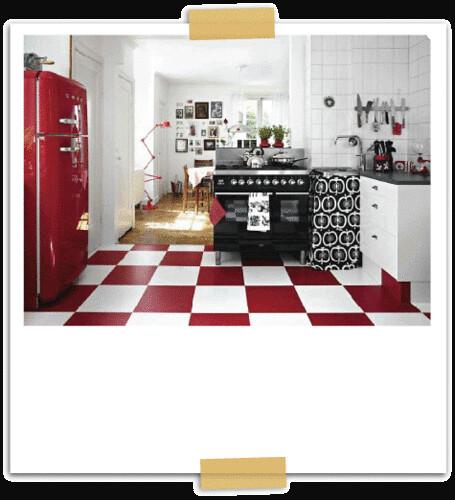 Red White Black Kitchen Heidi Flickr