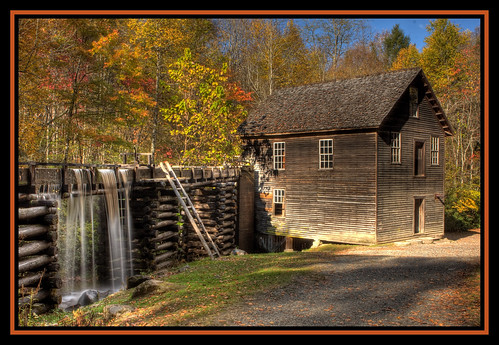 fall mill waterfall seasons fallfoliage turbine blueridgeparkway greatsmokymountainsnationalpark cherokeenc mingusmill addictedtoflickr leaveswaterfall allkindsofbeauty