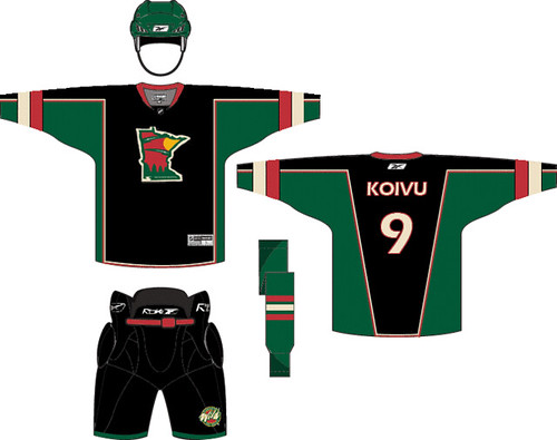 official photos 8db32 bfd1c MN Wild 3rd Jersey Concept 08-09 | just a little something i ...