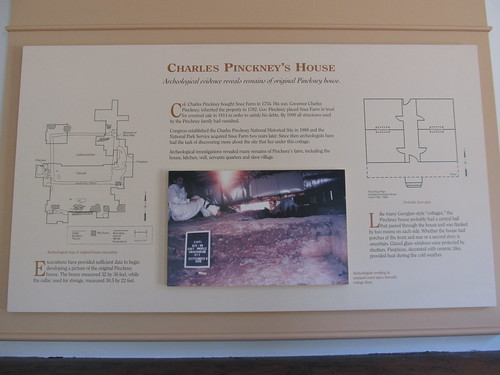 Information on House, Charles Pinckney National Historic Site, Mount Pleasant, South Carolina   by Ken Lund