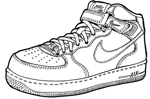 new styles 0c0bd 8a891 ... Nike Air Force One Mid - drawing   by O Abnormal