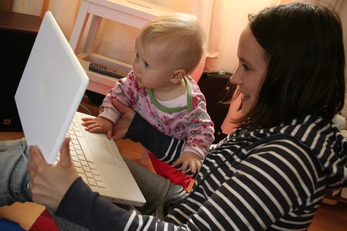 Catriona's first video Skype with grandparens | by Ewan McIntosh