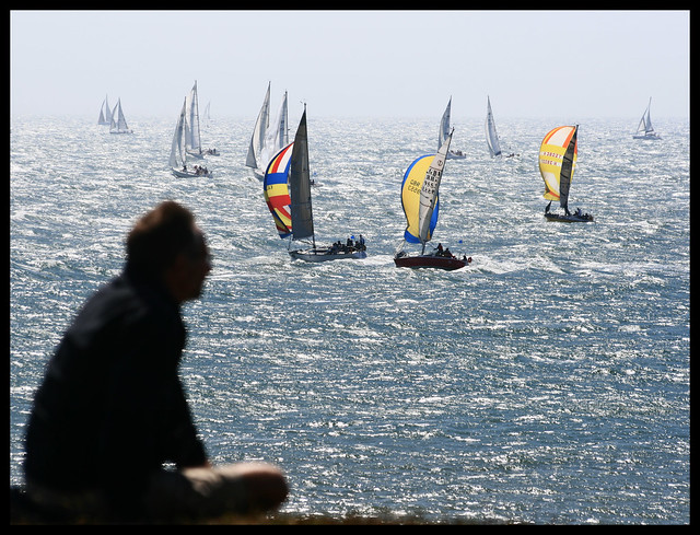 Round the Island Race 2008. Watching the boats go by