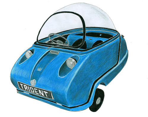 Peel Trident Microcar Colour Pencil Drawing Of A Peel Tr Flickr