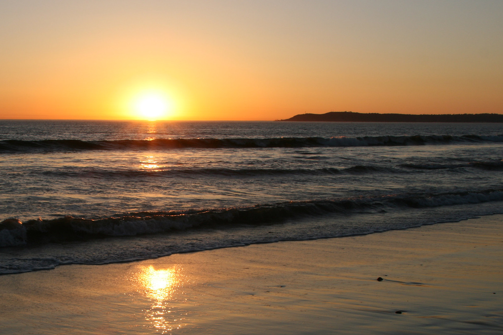 Sunset at Silver Strand State Beach