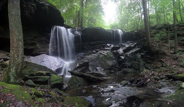 Upper Polly Branch Falls, Polly Branch Trail, Centennial Wilderness WMA, White Co, TN
