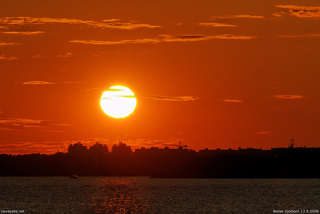 Helsinki sunset