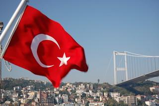 Bosphorus Bridge and Turkish Flag | by KLMircea